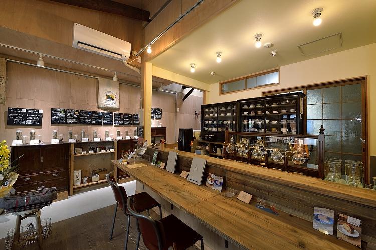厨房と豆売り場